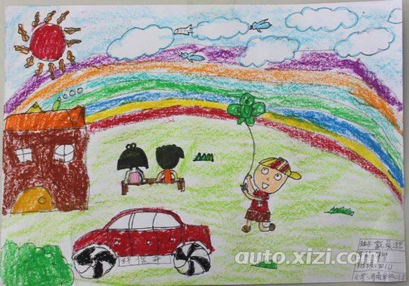 中国梦儿童汽车画