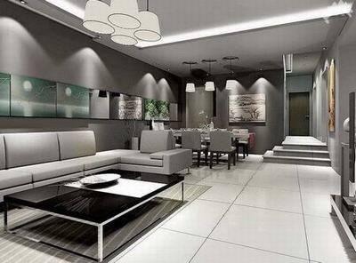 经典的客厅餐厅装修效果图:银灰-大受热捧的客厅餐厅风格 有你想要的