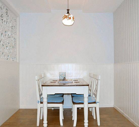 70平米两室一厅装修效果图 清新田园混搭白色简约